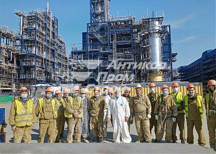Нанесение огнезащиты на металлоконструкции на Установке КГПН 15 000 кв. м поверхности